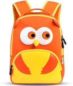 Orange Owl Kids Backpack