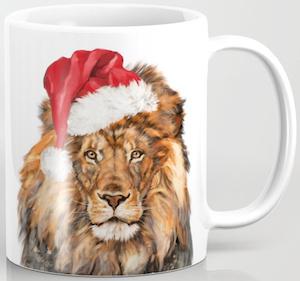 Christmas Lion Mug