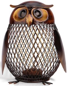 Metal Owl Money Bank