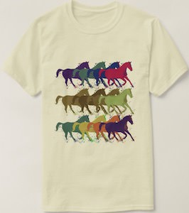Rows Of Horses T-Shirt