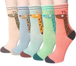 5 Pairs Of Giraffe Socks