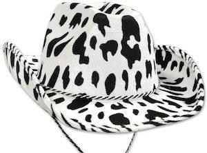 Cow Print Cowboy Hat