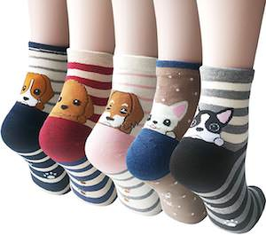 Womens Puppy Socks