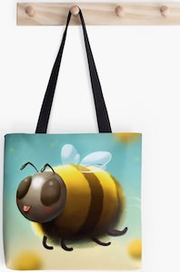 Flying Bee Tote Bag