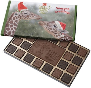 Holiday Giraffes Chocolate Box
