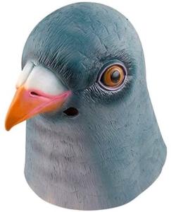 Halloween Pigeon Latex Mask