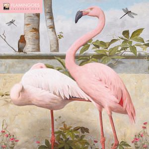 2019 Flamingoes Wall Calendar