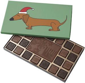 Dachshund Christmas Chocolates