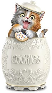 Hungry Cat Cookie Jar