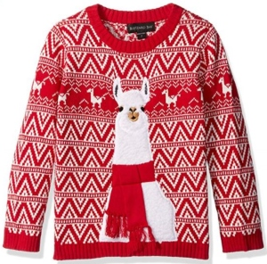 Llama Red Ugly Christmas Sweater