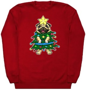 Pug Tree Christmas Sweater