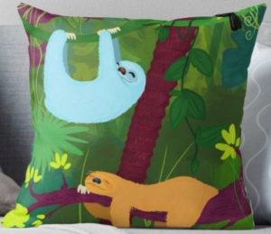 Sloth Nap Time Throw Pillow