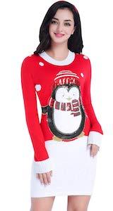 Sparkly Penguin Christmas Dress