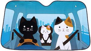 Driving Cats Car Sun Shade