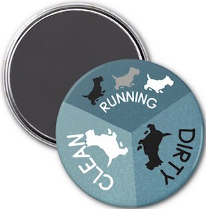 Running Dog Dishwasher Magnet