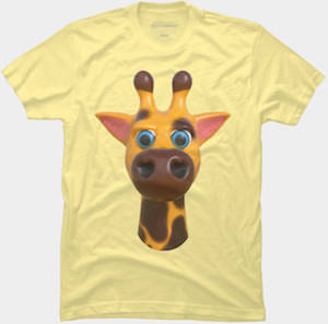 Comic Giraffe Face T-Shirt
