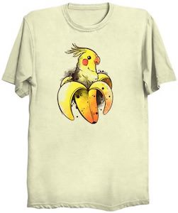 Parrot In A Banana T-Shirt