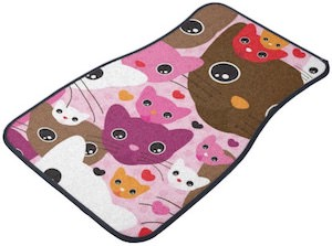Colorful Cats Car Floor Mats