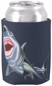 Big Shark Can Koozie