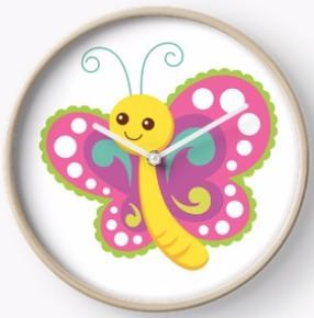 Cute Butterfly Clock