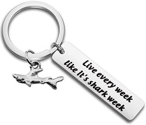 Live Like It's Shark Week Key Chain