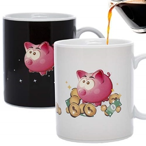 Pig Piggy Bank Heat Changing Mug