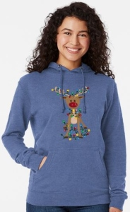 Reindeer Tangled In Christmas Lights Sweater