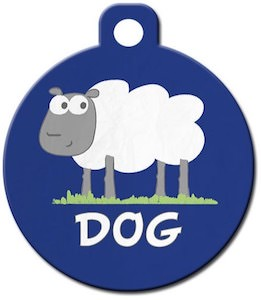 Sheep Dog Pet ID Tag