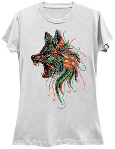 Wolf With Colors T-Shirt