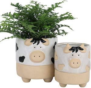 Ceramic Cow Planters