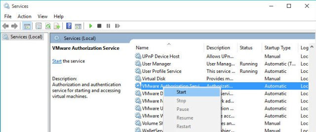 vmware-authorization-service-not-running-select-start