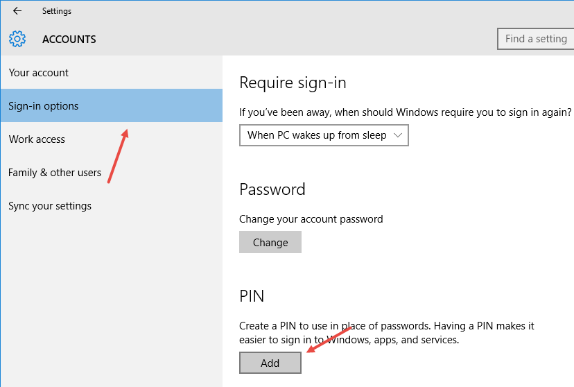 windows-10-pin-security-click-add