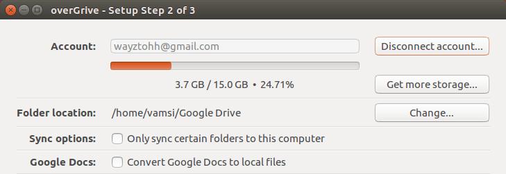 ubuntu overgrive account added