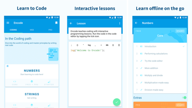 Best Android Apps to Learn Programming - Encode