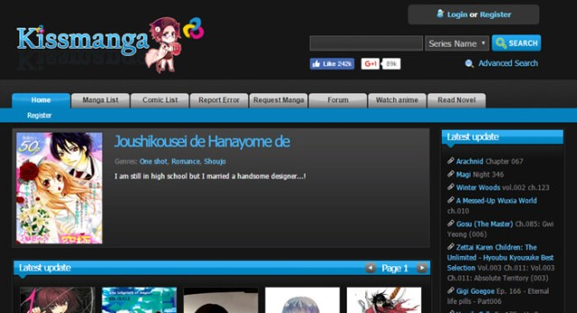 Best manga website - KissManga