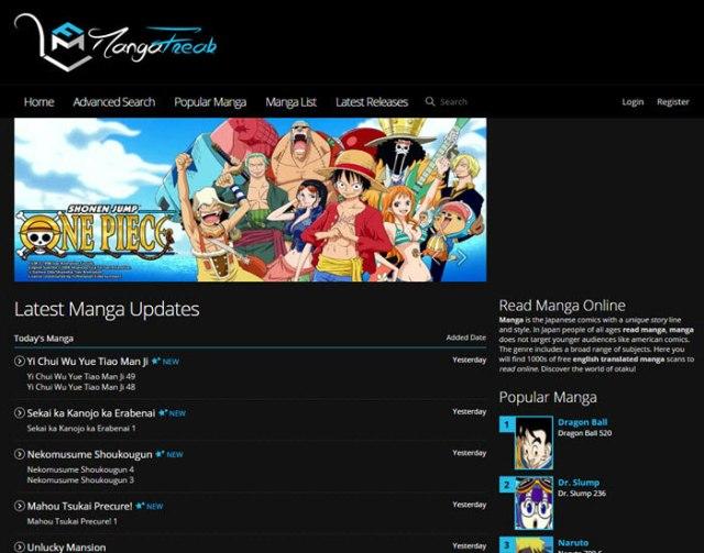 Best manga website - MangaFreak.com