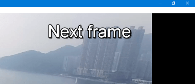 VLC Frame by Frame - Next Frame in VLC