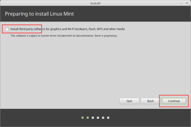 Install Linux Mint in VirtualBox - Install Third-party Software