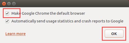 Google Chrome Ubuntu - make Google Chrome the default browser