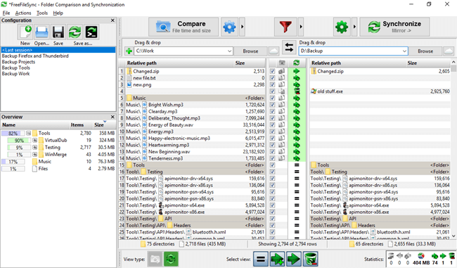 free folder sync software - freefilesync