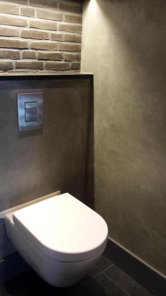 Toiletten afgewerkt met Bton Cir Pro  Stukadoorsbedrijf