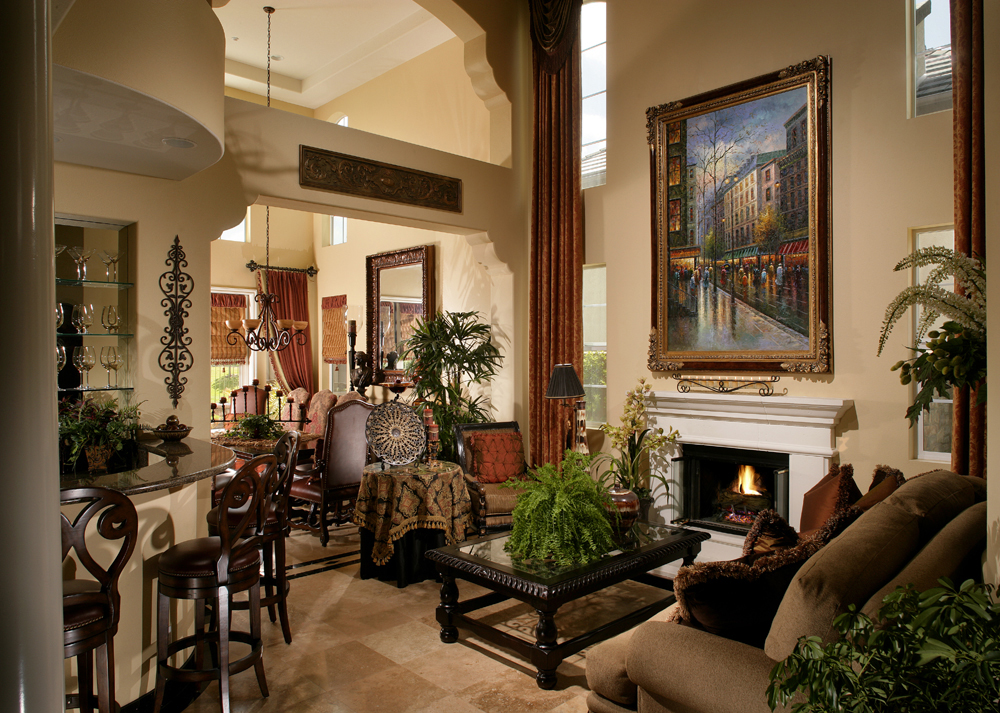 Living Room - Mediterranean, Old World, Tuscany Style