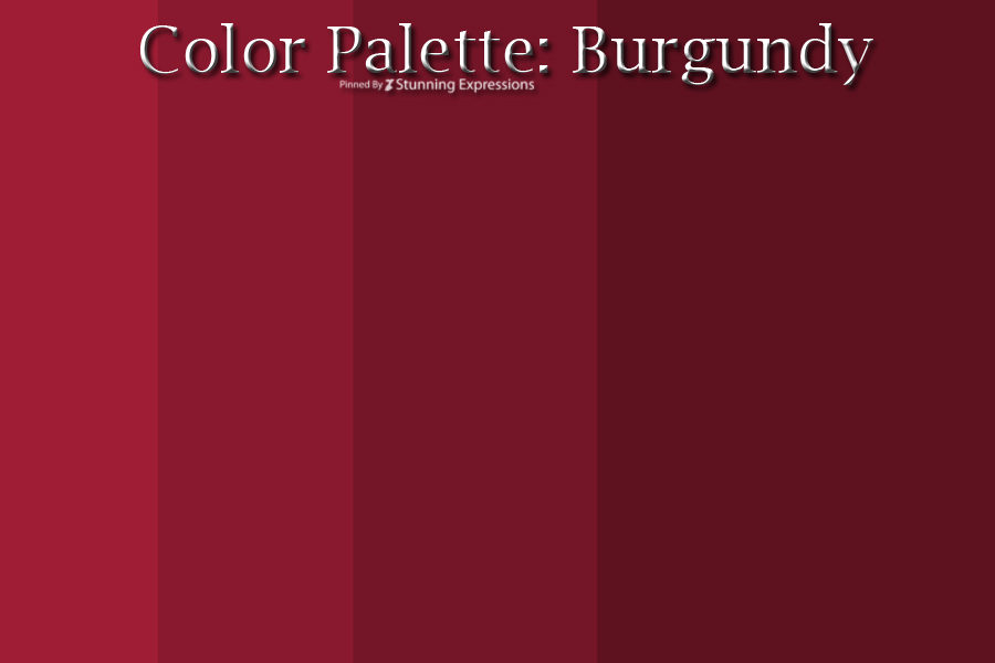color palette burgundy stunning expressions