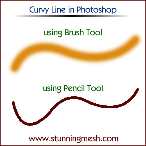 How to make Curvy line in Photoshop?