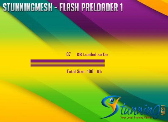Stunningmesh flash preloader with source FLA