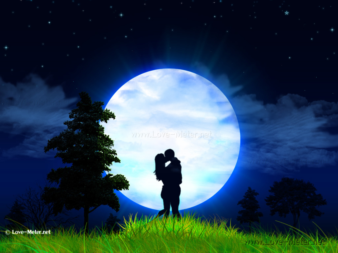 Love couple Guitar Wallpaper : Beautiful Romantic Moonlight Wallpapers Stunning Mesh