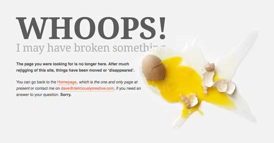135 Impressive 404 Error Page not Found Samples for your inspiration