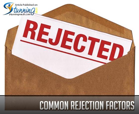 Common rejection factors