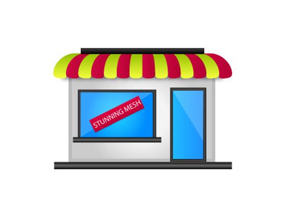Ice Cream Shop in Illustrator
