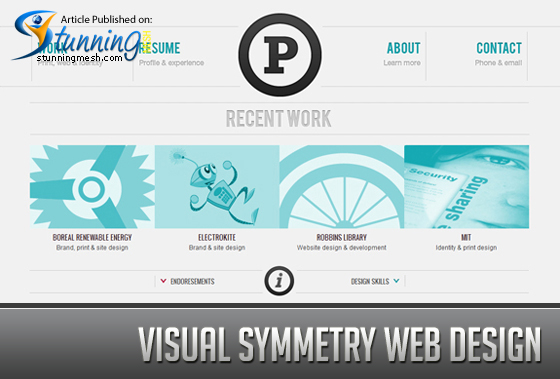 Visual Symmetry Web Design